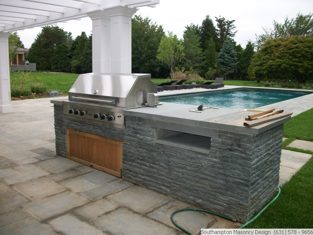 Home property makeover landscaping masonry contractor for Outdoor cooking station plans