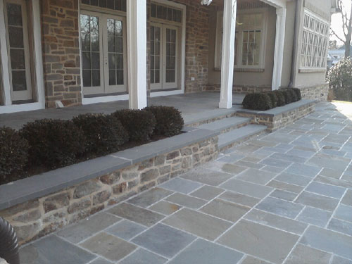 Blue stone masonry stone pavers concrete mason for Bluestone porch