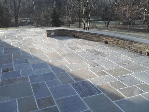 Blue stone masonry stone pavers concrete mason for Blue stone home